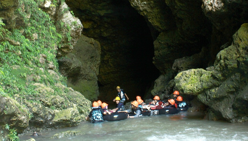 Lokasi Kali Suci Cave Tubing