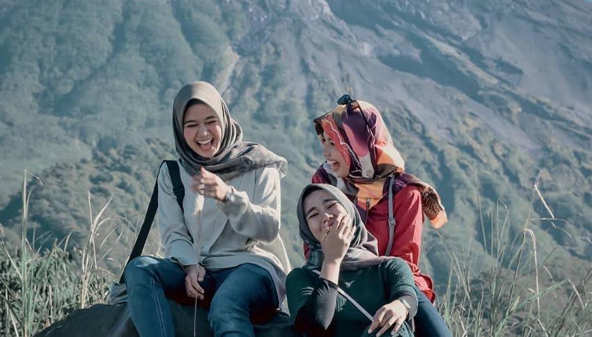 Pengunjung Bungker Kaliadem Merapi