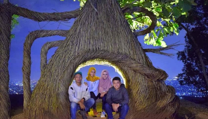 Wisatawan Hutan Pinus Pengger