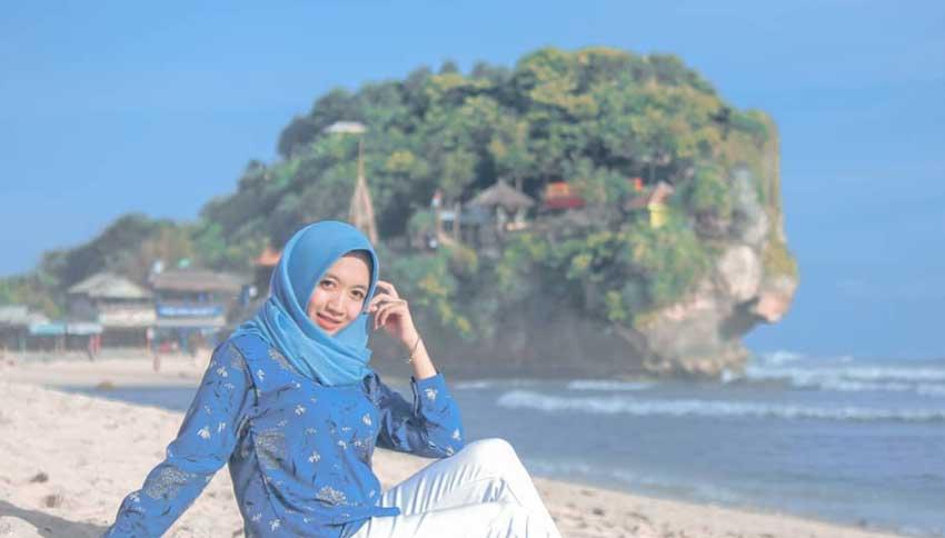 Foto Wisatawan Pantai Indrayanti