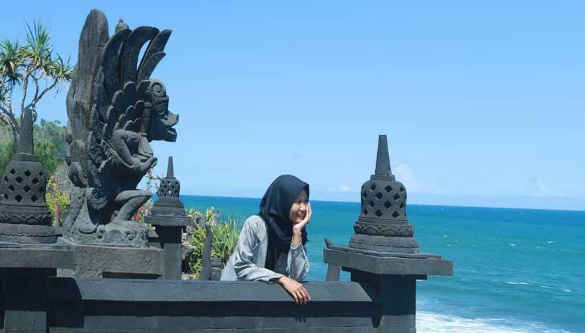 Foto Wisatawan Pantai Ngobaran