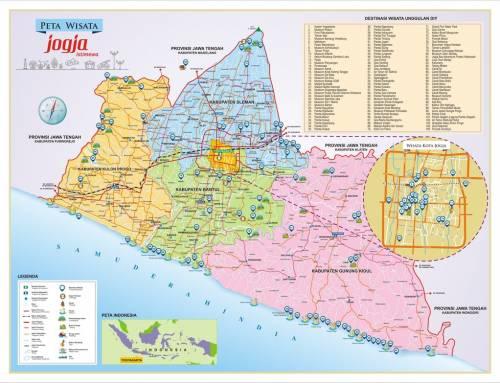 Intip Peta Wisata Jogja dan Kunjungi Destinasi Favorit Anda!