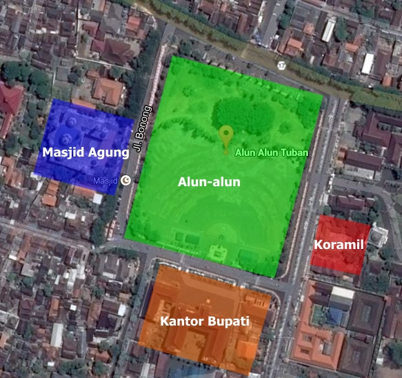 peta Alun-alun Kidul