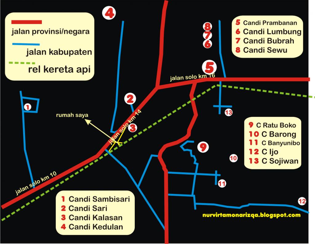 peta Candi Ijo
